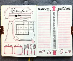 bullet journal, organization, and planner image