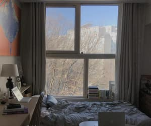 room, sheets, and tree image