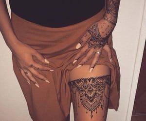 body art, girl, and mandala image