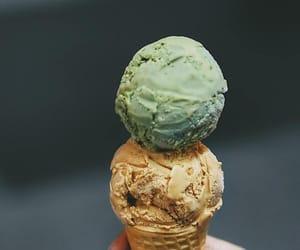 cone, dessert, and green tea image