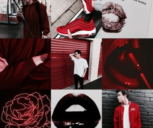 dark, dark red, and finn image