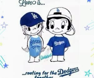 art, drawing, and la dodgers image