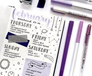 purple and bullet journal image