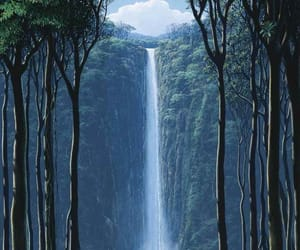 nature, waterfall, and landscape image