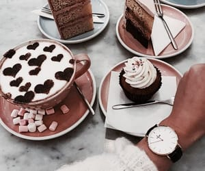 coffee, cake, and cupcake image