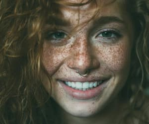 curly, freckles, and red head image