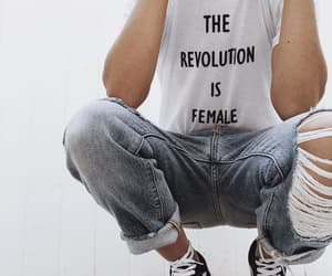 female, feminism, and style image