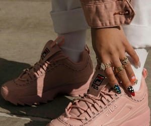 accessories, pink, and sneakers image