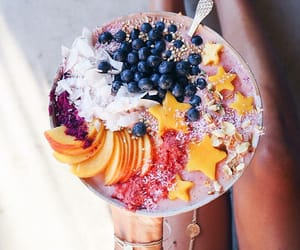 food, fruit, and acai bowl image