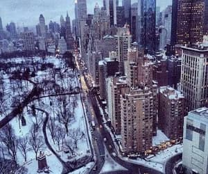 city, snow, and winter image