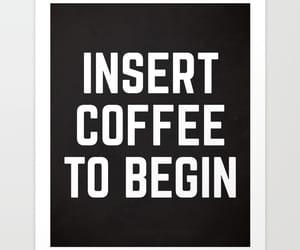 coffee, funny, and print image