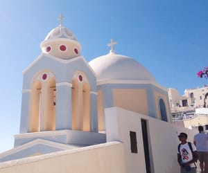 church, Greece, and santorini image