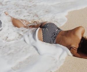 beach, goals, and sand image
