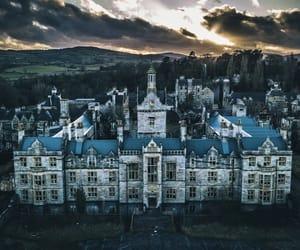 asylum, castle, and cloud image
