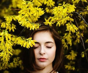 beauty, flowers, and make up image