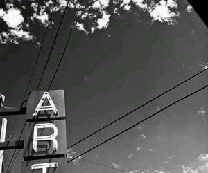 art, black and white, and sky image