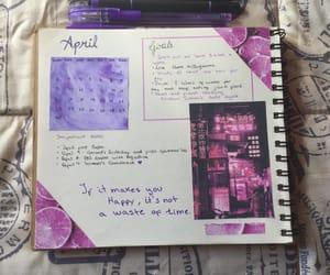 art, bujo, and purple image
