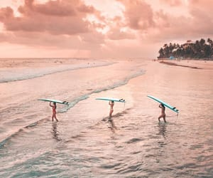 beach, ocean, and surf image