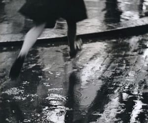 rain, black and white, and vintage image