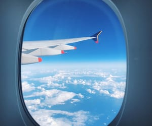 air, cloudy, and travel image