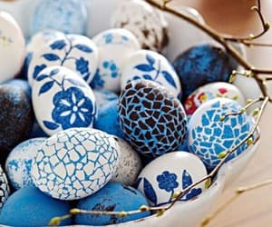 easter, blue, and eggs image