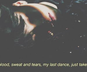 aesthetic, Lyrics, and blood sweat and tears image
