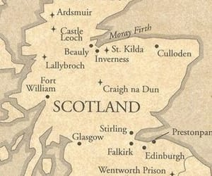 outlander, map, and scotland image