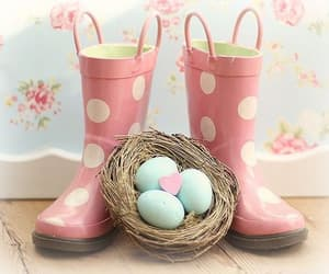 flowers, pink, and easter image