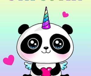 kawaii, panda, and cute image