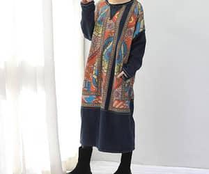 etsy, cotton dress, and plus velvet dress image
