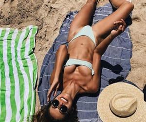 beach, fashion, and bikini image
