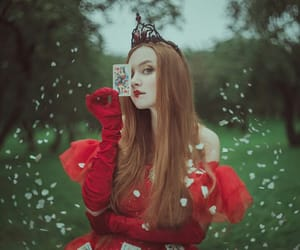red, alice in wonderland, and Queen image