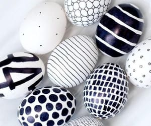 easter, eggs, and black image