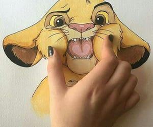 simba, art, and draw image