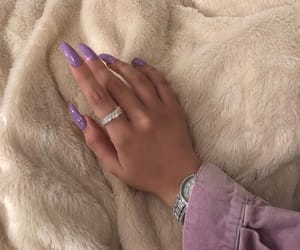 nails, purple, and nail inspo image