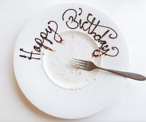 birthday, chocolate, and dish image