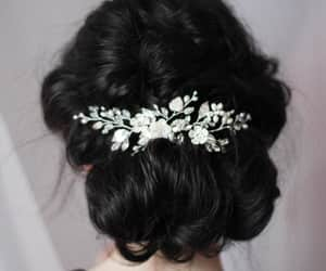 etsy, crystal hair comb, and wedding hair comb image