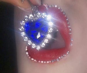 lips, blue, and diamond image