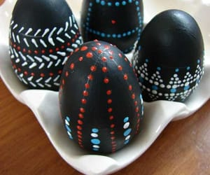 black, egg, and easter image