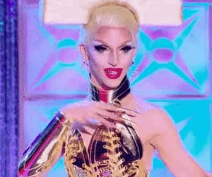 drag queen, gif, and runway image