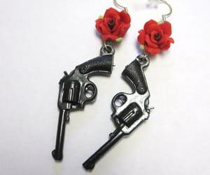 pistol and gun earrings image