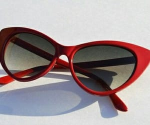 red, sunglasses, and aesthetic image
