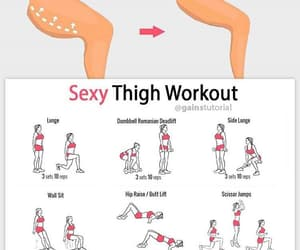 thigh, workout, and body image