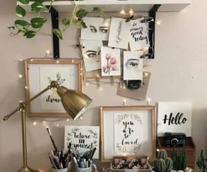 decor, desk, and interior decor image