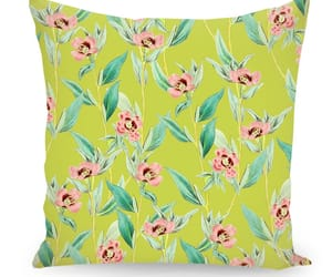 floral, homedecor, and throwpillow image