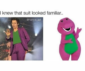 barney, funny, and purple image