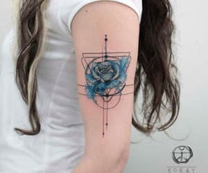 tattoo, art, and blue image
