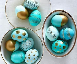 easter, eggs, and blue image