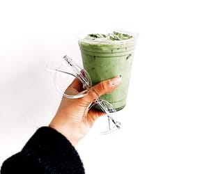 green, drink, and white image