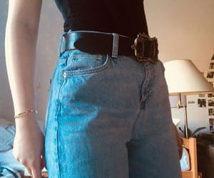 aesthetic, belt, and gold image